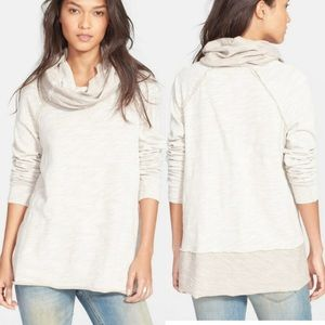 Free People Beach Sand Cocoon Cowl Neck Pullover